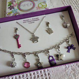 Piper Jewelry Pendant & Bracelet Gift Set GG